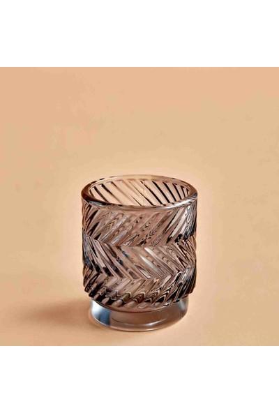 Bella Maison Wavy Koyu Gri Tealight Mumluk 7x8 cm