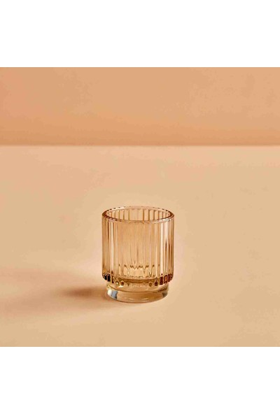 Bella Maison Striped Amber Tealight Mumluk 7x8 cm