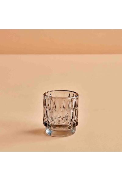 Bella Maison Drop Açık Gri Tealight Mumluk 7x8 cm