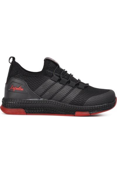 Lafonten Siyah-Kırmızı Çocuk Spor Ayakkabı