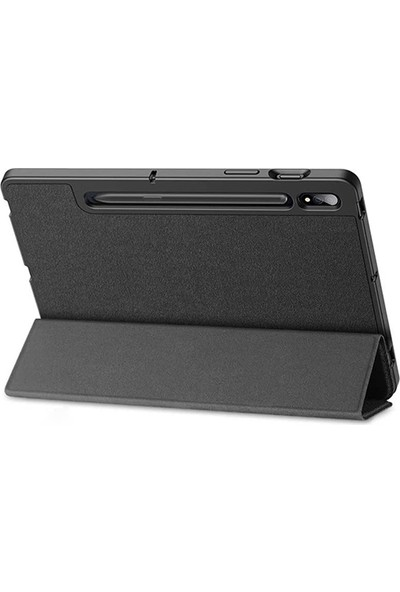 Ally Dux Ducis Galaxy Tab S7 Plus T970-T976 Kılıf Kalem Yerli Soft Tpu Mıknatıslı Kılıf AL-33291 Siyah