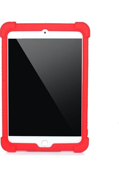 Ally Ipad Mini 5-Mini 4 Shockproof Kılıf Standlı Silikon Kılıf AL-33297 Kırmızı