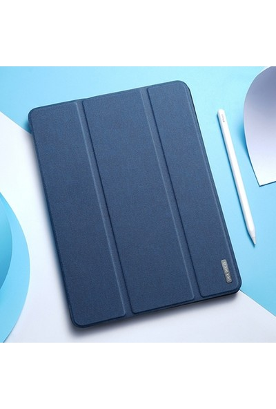 Ally Dux Ducis iPad Air 4 10.9 Kılıf Kalem Yerli Soft Tpu Mıknatıslı Kılıf AL-33410 Mavi