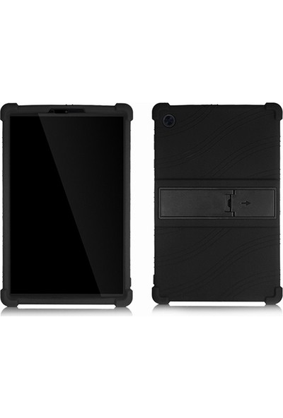 Ally Lenovo Tab M10 Tablet 2.nesil, X306F Standlı Silikon Kılıf Siyah