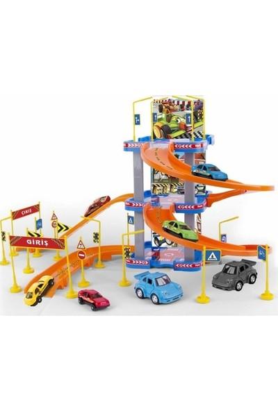 Erdem Oyuncak Garaj Seti 3 Katlı Otopark - 3 Katlı Süper Garaj Seti 41 Parça
