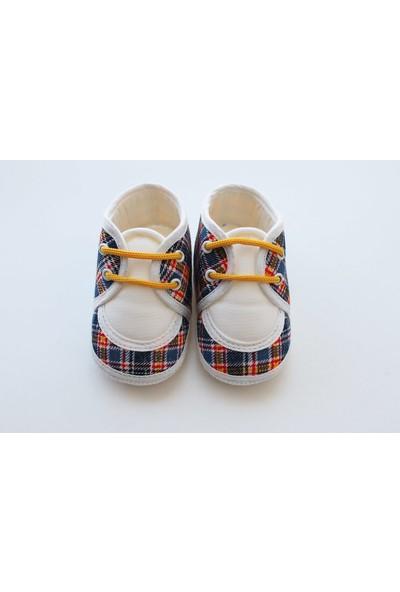 Puppis Baby Sarı Bağcıklı Erkek Bebek Ayakkabı