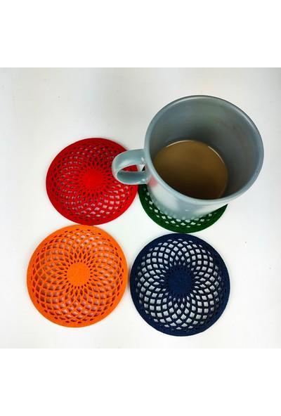 Misingpiece Keçe Torus Bardak Altlığı Renkli Dörtlü Paket