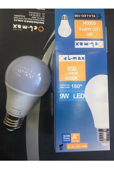 9W Beyaz LED Ampul El-Max 850 Lümen IP20