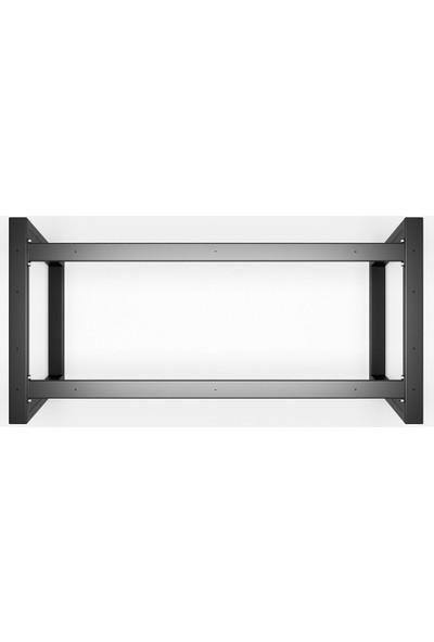 Metal Masa Ayağı Yan Destekli Masa Ayağı Yemek Masası Mutfak Masası Ayak Modelleri Tasarım Masa Ayakları 73X60X200 cm