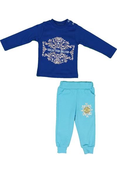 Baby&Kids Erkek Bebek Mavi Eşofman Takımı