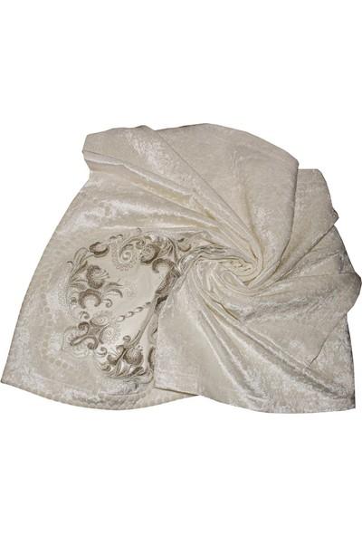 Dantelux Kadife Bohça Fransız Dantelli 12363-C02 Krem