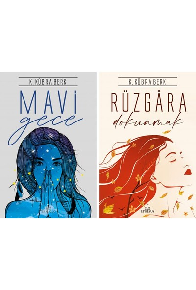 K. Kübra Berk 2 Kitap Set - Mavi Gece - Rüzgara Dokunmak