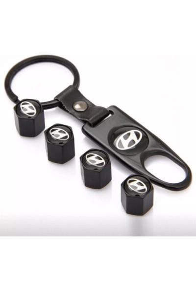 Araba Alışveriş Hyundai Aksesuar Metal Sibop Kapağı ve Anahtarlık Seti