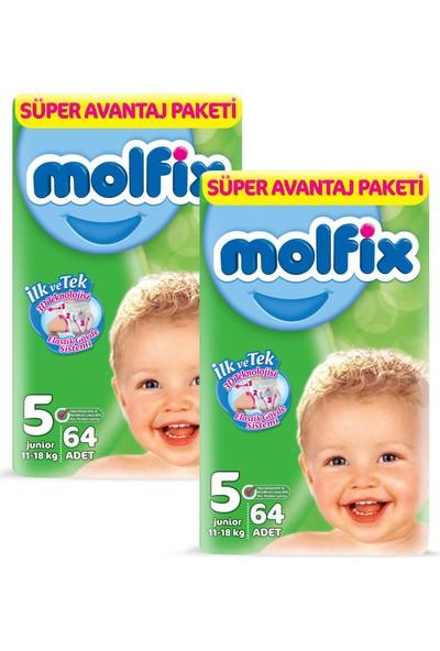 Molfix Bebek Bezi 5 Beden Junior Süper Ekonomi Paketi 128'li