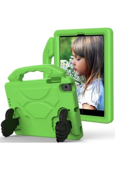 "BluppleApple iPad 10.2"" 7.nesil & 8.nesil Uyumlu Like Tablet Kılıfı Tutmalı Stand Silikon Yeşil Çocuk"