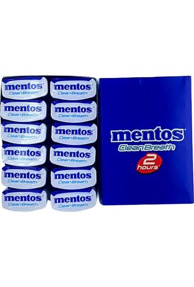 Mentos Clean Breath Metal Kutu Nane Şekersiz 12'li x 35 gr