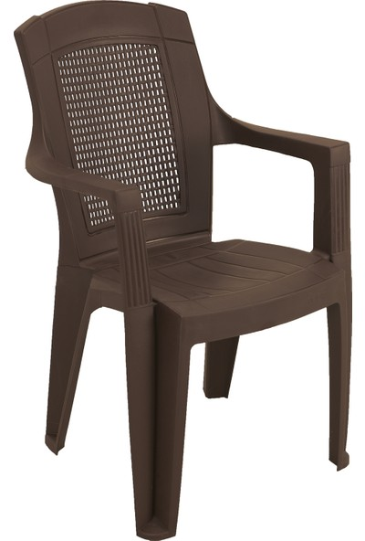 Romanoset Plastik Sultan Kollu Plastik Sandalye 4'ü Set