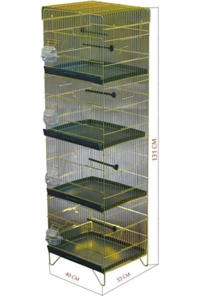 Karadağ Üretim Kafesi 4 Katlı - 40 x 33 x 131 cm