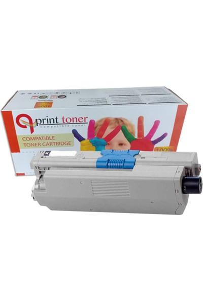 Qprint Oki C301 44973541 Yl Sarı Muadil Toner 2500 Sayfa Sarı