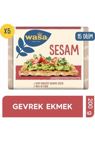 Wasa Susamlı Gevrek Ekmek (Crispbread Sesam) 200 gr x 5 'lü