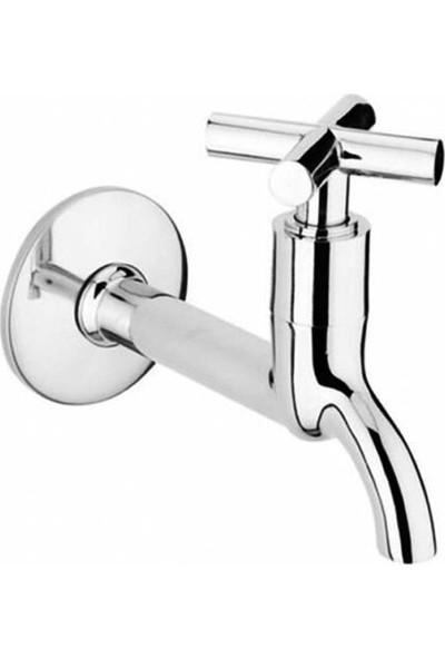 Xolo Zamak Koçbaş 4 Kollu Tek Su Girişli Banyo Tuvalet Bahçe Musluğu