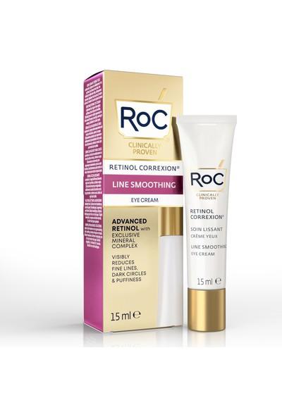 roc Retinol Correxion Line Smoothing Eye Cream 15ML Roc Kırışıklık Karşıtı Canlandırıcı Göz Kremi 15 Ml