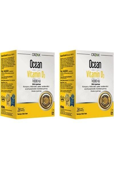 Orzax D3 Vitamini 1000 Uı Sprey 20 ml X2 Adet