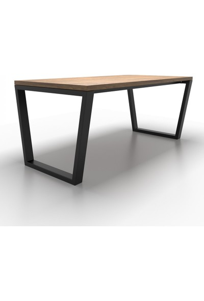 Metal Masa Ayağı Yan Destekli Masa Ayağı Yemek Masası Mutfak Masası Ayak Modelleri Tasarım Masa Ayakları 70X70X130 cm