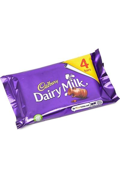 Cadbury Dairy Milk Chocolate Bars Sütlü Çikolata (4X29.3) 117,2 gr