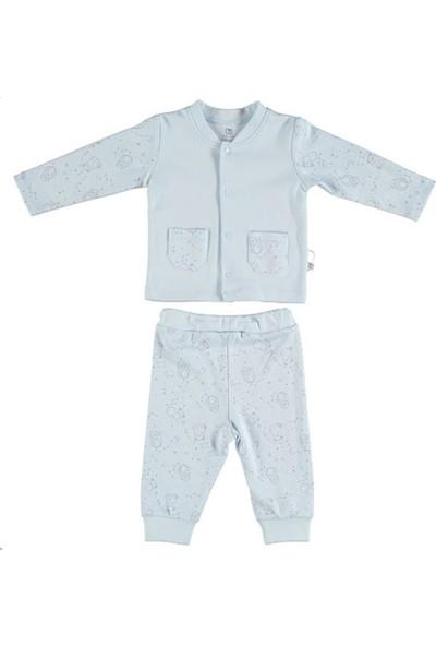 Bibaby Stars Pijama Takımı Mavi