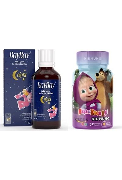 Melisa, Ihlamur ve Papatya Özlü Baybay Damla 50 ml + Voonka Bal Aromalı Kıdmuno 32 Çiğneme Tableti