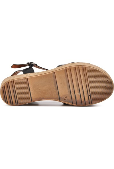 Park Fancy 702 Siyah Kadın Sandalet
