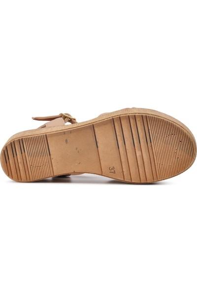 Park Fancy 702 Pudra Kadın Sandalet