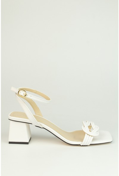 Marine Shoes Kadın Beyaz Cilt Sandalet