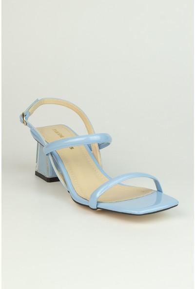 Marine Shoes Kadın Bebe Mavi Rugan Sandalet