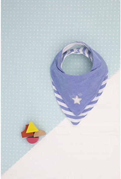 Babydoll %100 Pamuk Yıldız Nakışlı 2'li Erkek Bebek Önlük