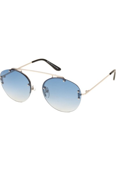 Attach Mr-Mavi Cam Çerçevesiz Güneş Gözlüğü