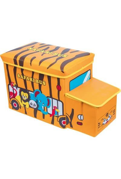 Sas Arabalı Oyuncak Kutusu Katlanabilir Safari Bus 7539