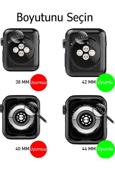 Mcstorey Apple Watch 6-5-4-3 Kordonu Kayışı 42-44MM Yumuşak Doku Lila