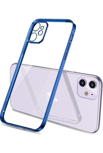 Yakuppolt Highprint Apple iPhone 12 6.1 Metal Görünümlü Silikon Kılıf