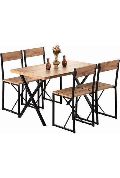 Weblonya Mutfak Masası Yemek Masası 4 Kişilik Masa