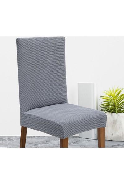 Haksever Home Lastikli Balpeteği Likra Kumaşlı Sandalye Örtüsü ,modern Sitreç Sandalye Kılıfı
