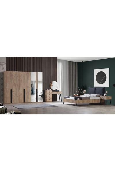 Feyza Mobilya Premium 6 Kapılı Bazalı Yatak Odası No1