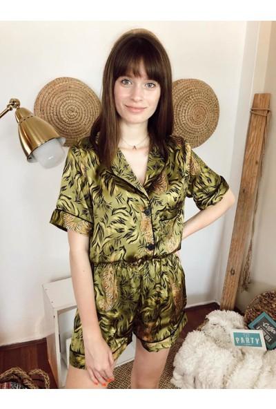 Serbella Kaplan Figürlü 3'lü Pijama Takımı