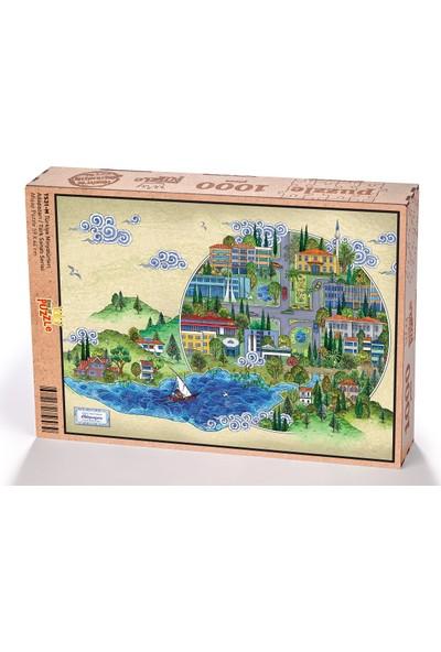 King Of Puzzle Türkiye Minyatürleri - Adapazarı - Nasuhi Hasan Çolpan Ahşap Puzzle 1000 Parça