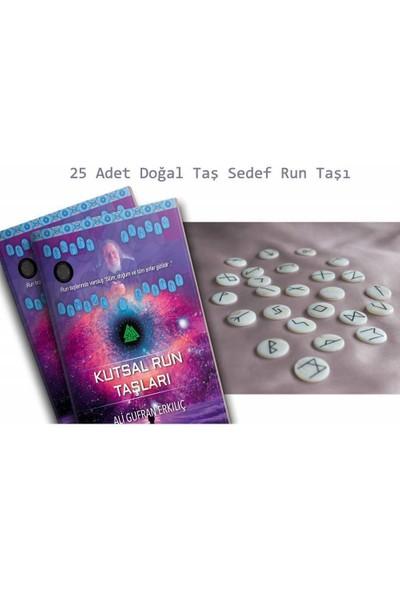 Kutsal Run Taşları - Ali Gufran Erkılıç + 25 Adet Doğal Taş Sedef Run Taşı