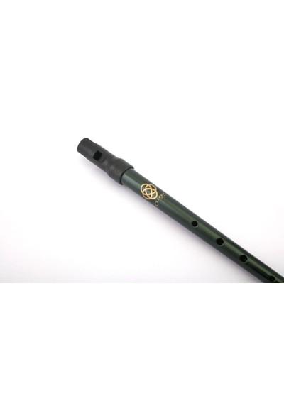 Clarke Irlanda Flütü -Tinwhistle D Clarke Sweetone Celtic Koyu Yeşil