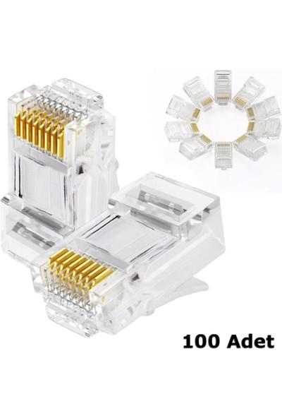 Concord RJ45 Konnektör 100 Adet Network Cat6 Jack Ethernet Uç