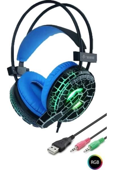 Sprange Rgb Işıklı Gaming Mikrofonlu Oyuncu Kulaklığı Pc ve Telefon Uyumlu