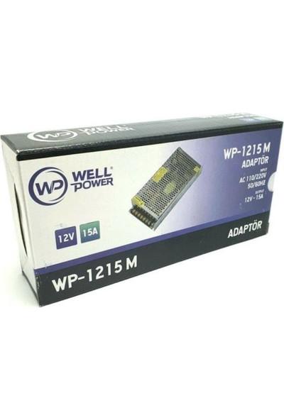 Well Power 12V 15A Adaptör 12 Volt 15 Amper Metal Kasa Adaptör Well Power WP-1215M